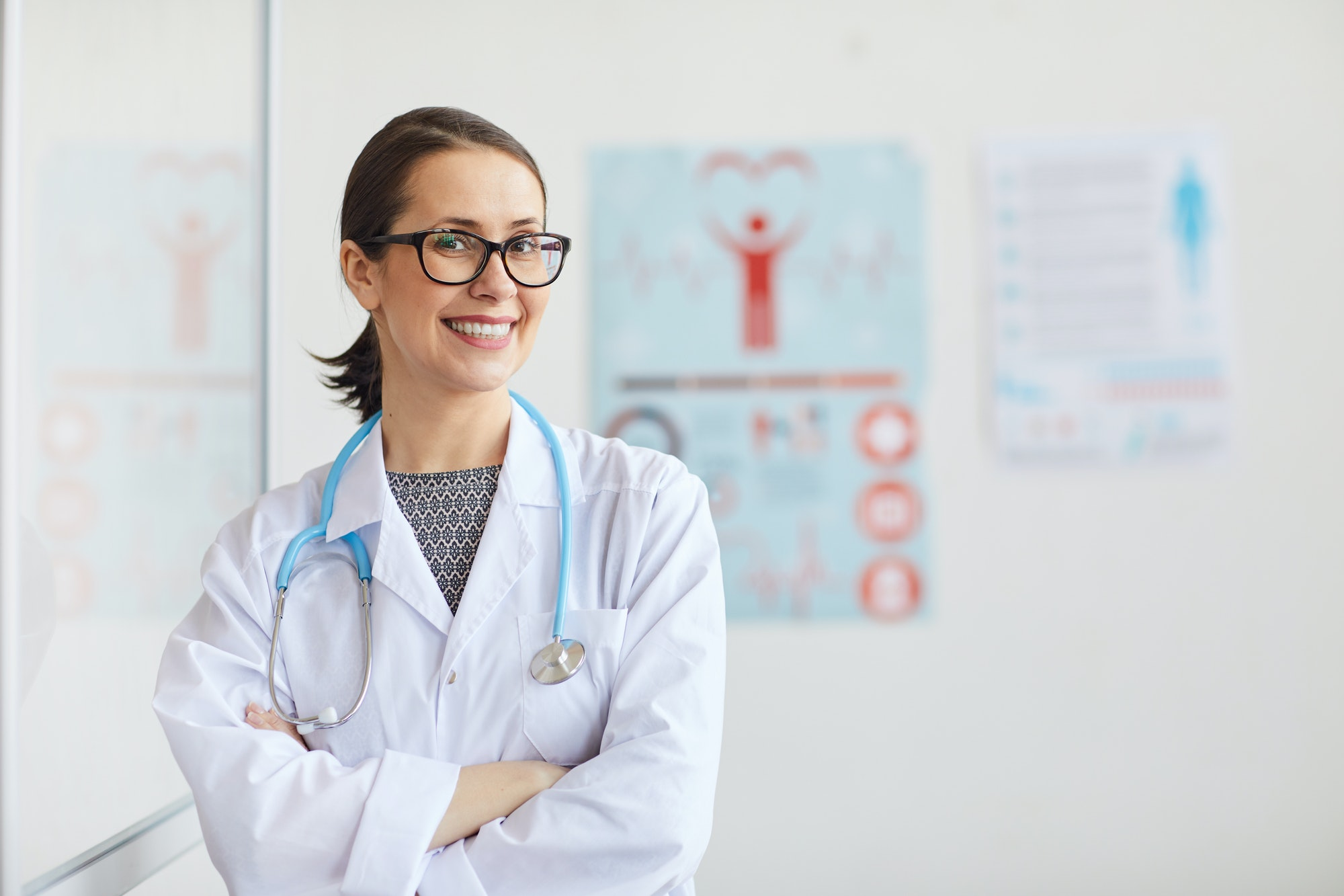 Doctor working at hospital